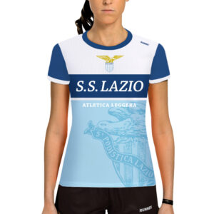 maglia running manica corta da donna per team