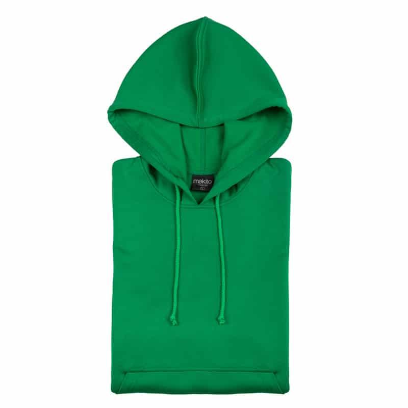 Felpa tecnica cappuccio verde