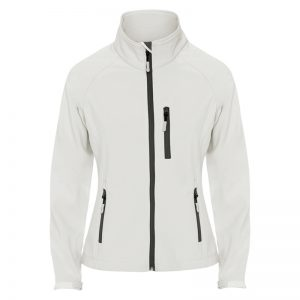 giacca donna soft shell bianca