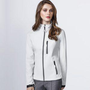 giacca donna soft shell bianca