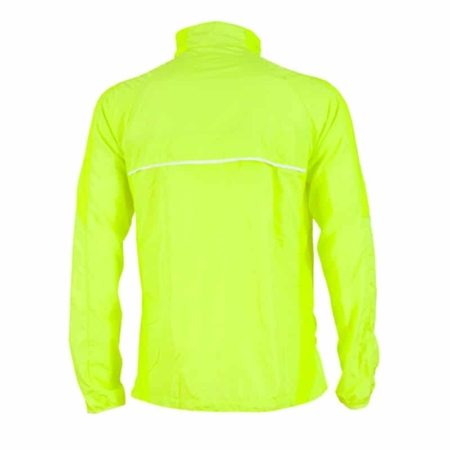 giacca running giallo fluo