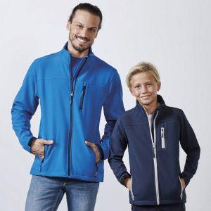 giacca soft shell blu