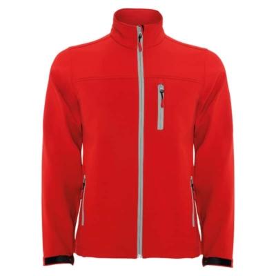 giacca soft shell rossa