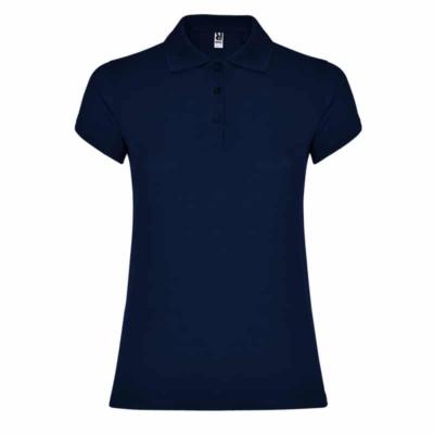 polo cotone donna blu navy