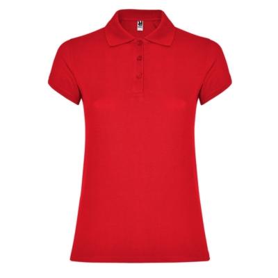 polo cotone donna rossa
