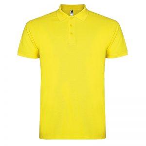Polo cotone gialla