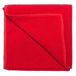 asciugamano in microfibra a mano rosso
