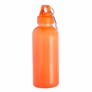 borraccia con moschettone arancione