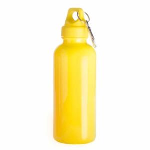 borraccia con moschettone gialla
