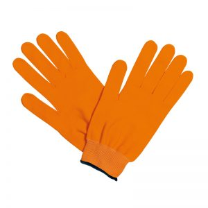 guanti running arancioni neri