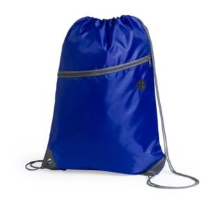 zaino sacca con tasca azzurra