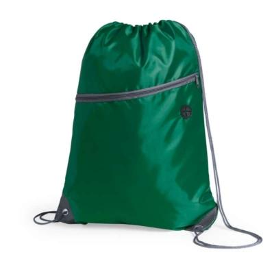zaino sacca con tasca verde