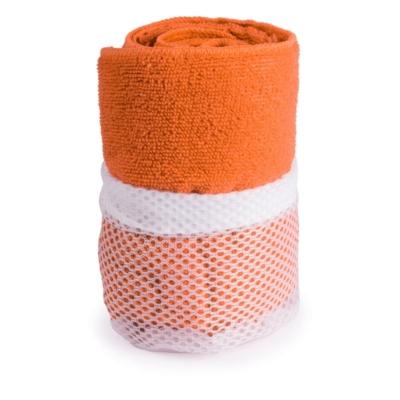 asciugamano in microfibra arancione