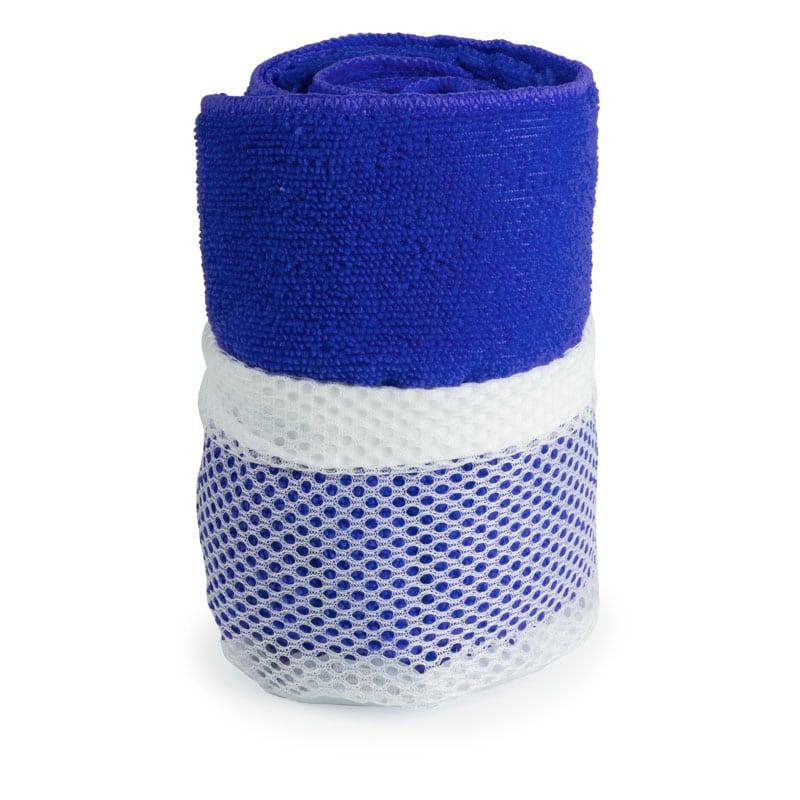 asciugamano in microfibra azzurro
