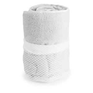 asciugamano in microfibra bianco