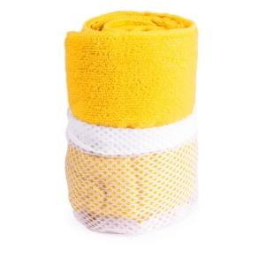 asciugamano in microfibra giallo