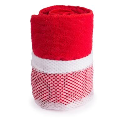 asciugamano in microfibra rosso