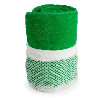 asciugamano in microfibra verde