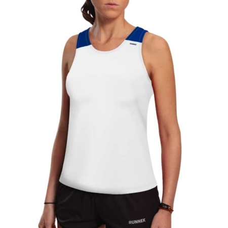 Canotta tecnica runnek vest bianco donna